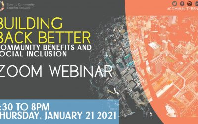 Leaning into 2021: Rebuilding Better Through Community Benefits